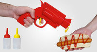 ¡Arriba las manos! Una pistola para sazonar hamburguesas y perritos calientes
