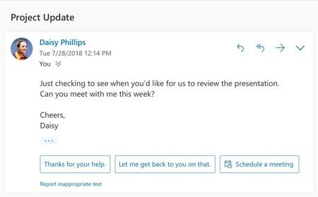 Las funciones inteligentes llegan a Outlook que ahora será más proactivo para intentar mejorar la gestión de las reuniones