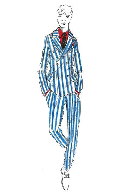 Hackett London SS 14  dibujo azul