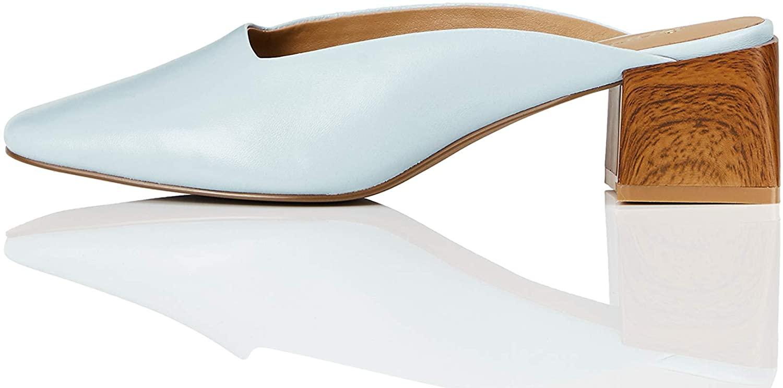 Marca Amazon - find. Close Toe Mule - Zapatos de tacón con punta cerrada Mujer