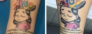 Unos padres se hacen el mismo tatuaje en honor a su hija con autismo