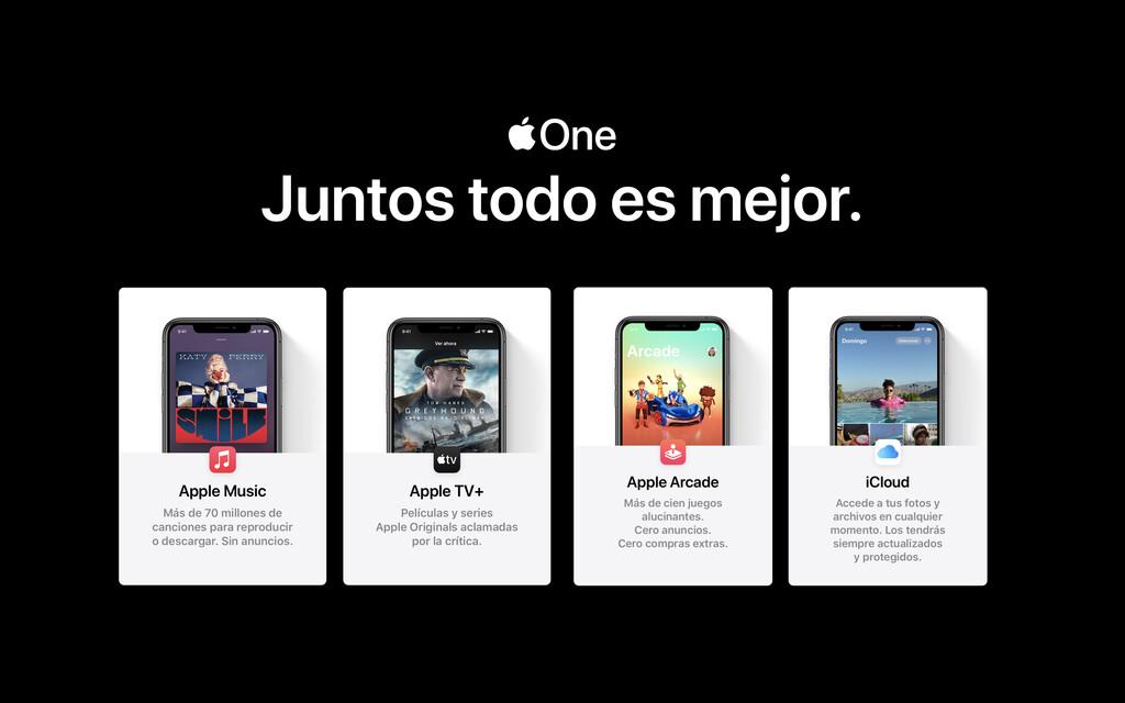 Apple One ya libre en España(pais) y otros países: estas son las tarifas y servicios