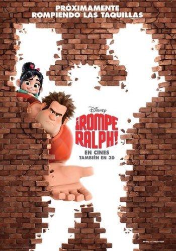 Un cartel en español de ¡Rompe Ralph!