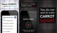 Carrot, el gestor de tareas para iOS que se enfada contigo si te distraes demasiado