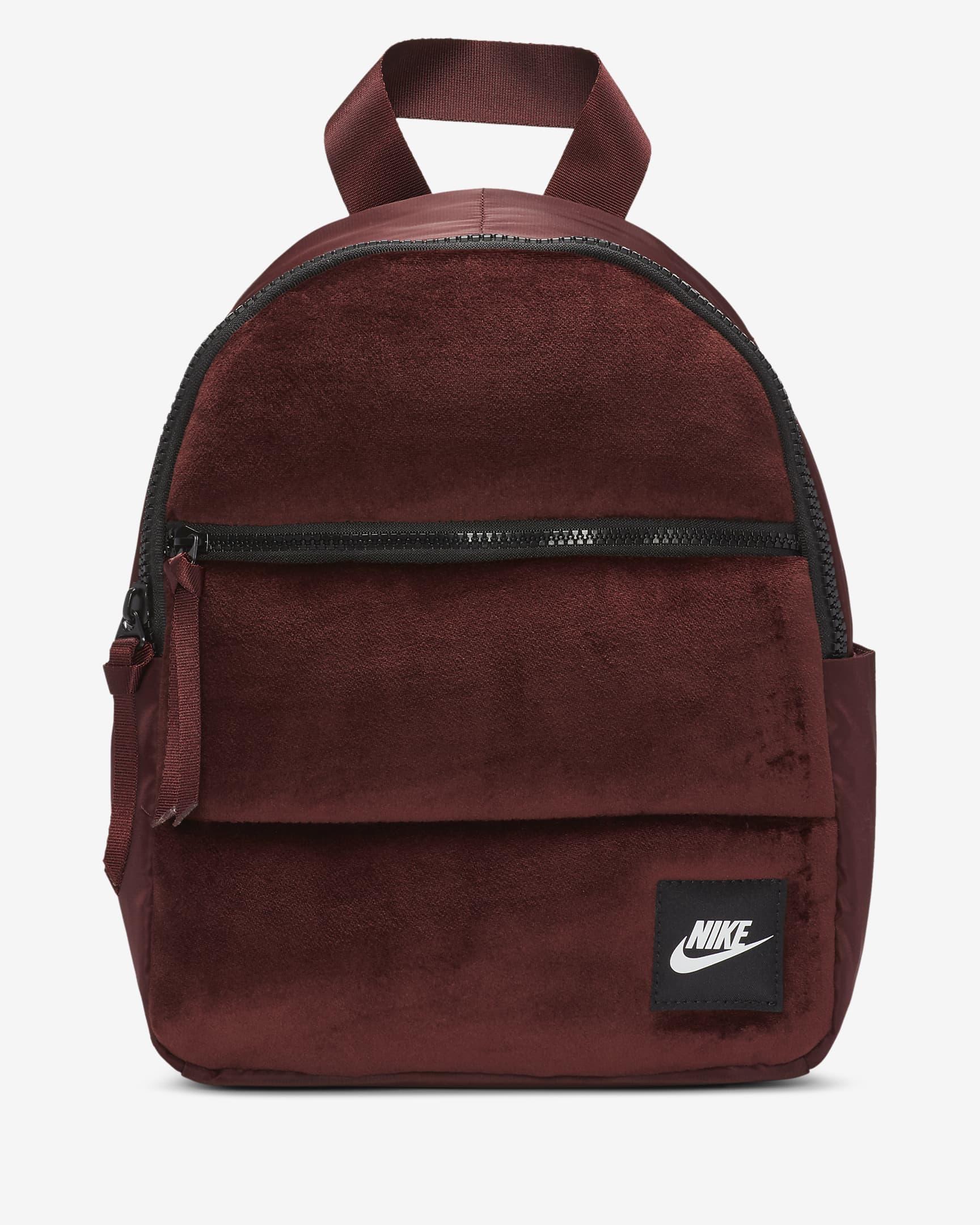 Mini mochila burdeos con textura suave