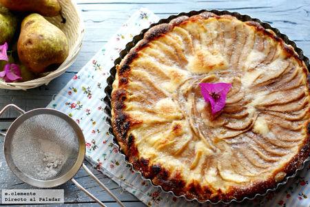 Tarta de pera y crema frangipane. Receta
