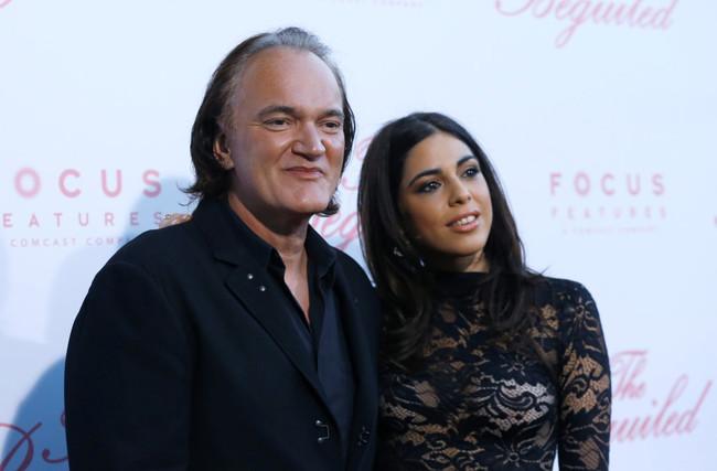 Quentin Tarantino con Daniela Pick