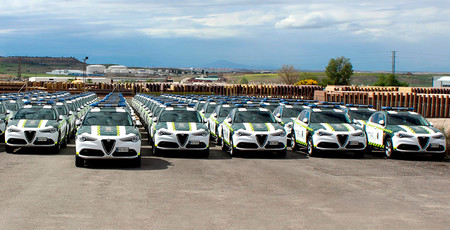 La Guardia Civil estrena 97 nuevos Alfa Romeo Stelvio