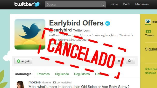 Twitter: nacen las promoted accounts y muere @earlybird