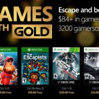 The Escapists o I Am Alive entre los juegos de Games With Gold de octubre