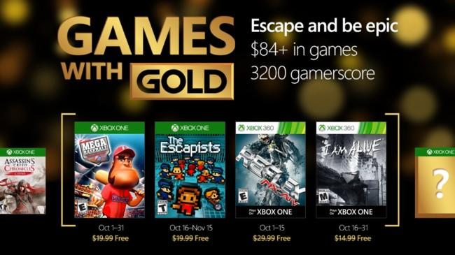Xbox Live Gold Octubre