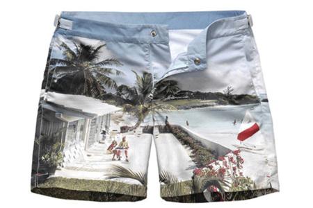 El bañador hawaiano de Orlebar Brown con foto real