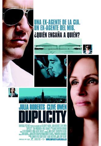 'Duplicity', póster y trailer