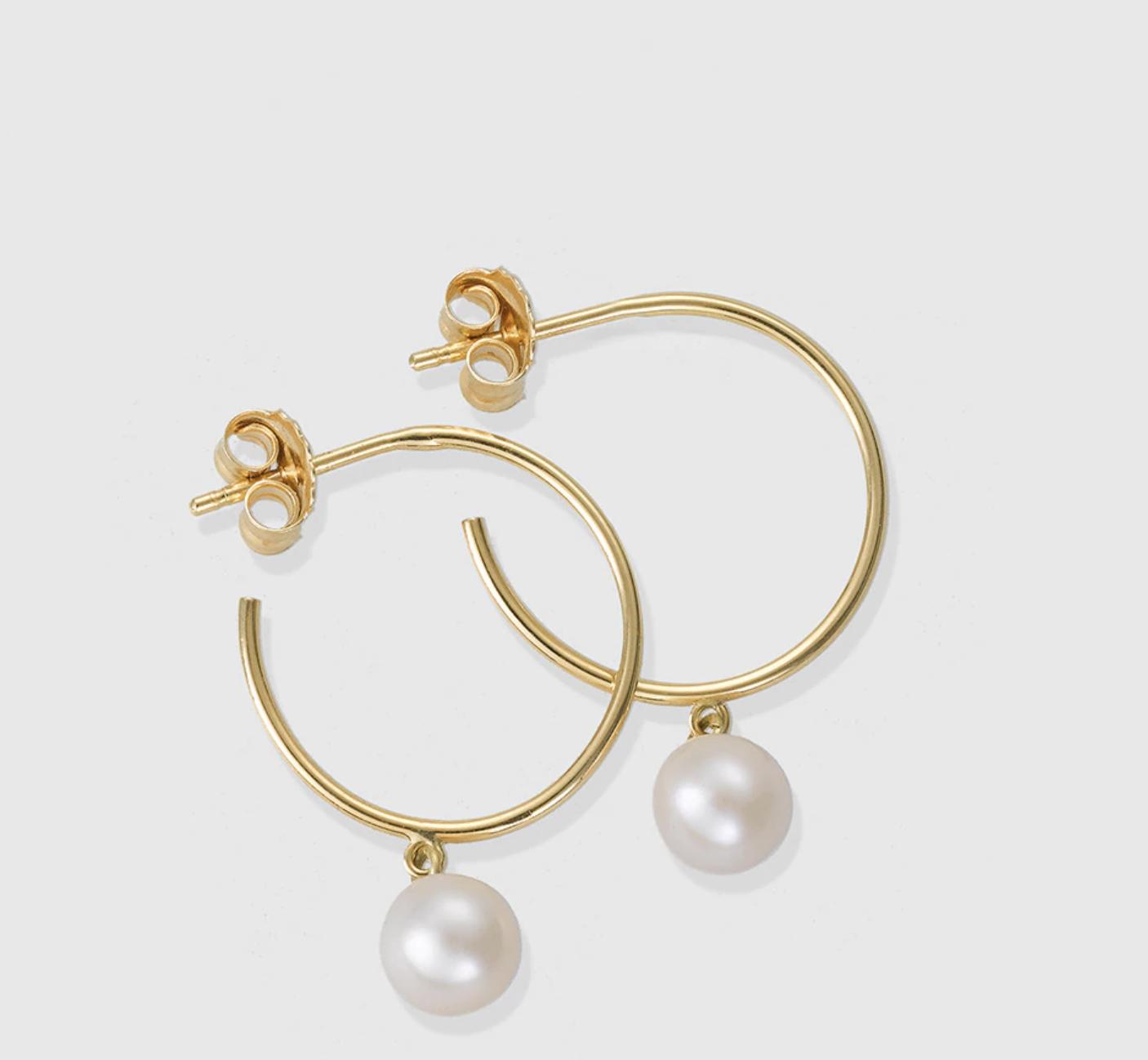 Pendientes en oro y perlas El Corte Inglés