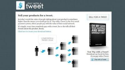 """Pay with a tweet: """"vende"""" tus productos a cambio de tweets"""