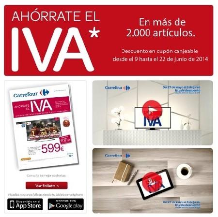 Ahórrate el IVA en más de 2000 artículos de electrónica en Carrefour
