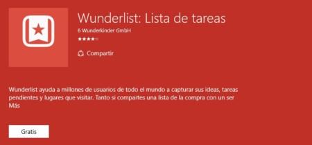 Ya puedes descargar la versión estable de Wunderlist para Windows 10