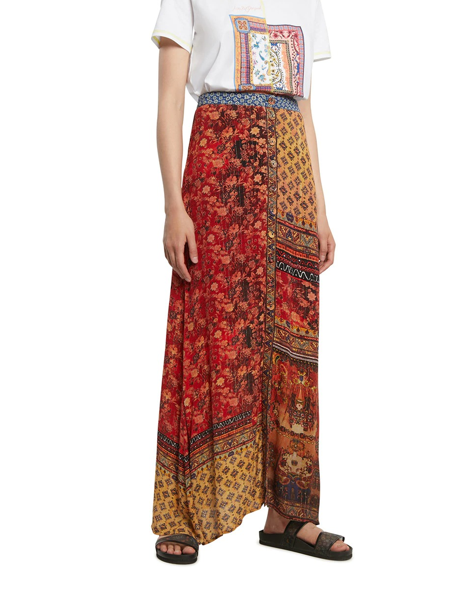 Falda larga de estilo pañuelo de Desigual