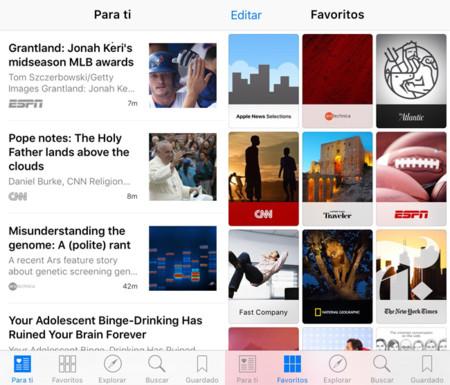 Apple News en iOS 9