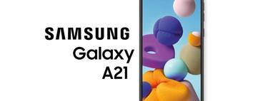 Samsung Galaxy A21, un móvil de gran pantalla que apuesta por la cuádruple cámara y precio contenido