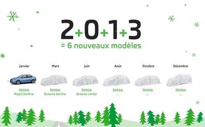 En 2013 Škoda recibe seis modelos nuevos o actualizados