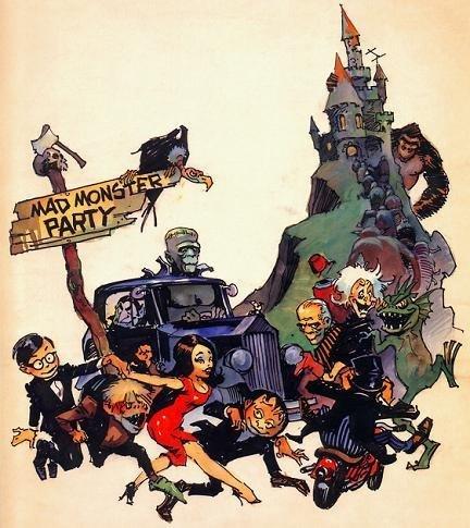 Imagen con el cartel de 'Mad Monster Party'