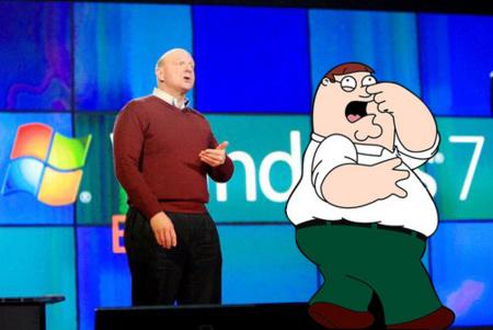 Finalmente no habrá anuncio de Windows 7 con Padre de familia