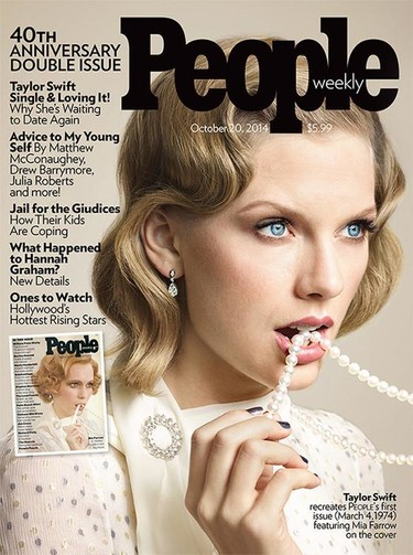 La revista People celebra su 40 aniversario pidiendo a Taylor Swift que pose como Mia Farrow en 1974