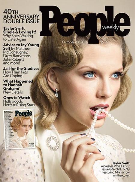 La revista People celebra su 40 aniversario pidiendo a Taylor Swift que pose como Mia Farrow en 1974