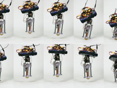 Así es el nuevo robot de Disney que puede saltar en una sola pata sin caerse