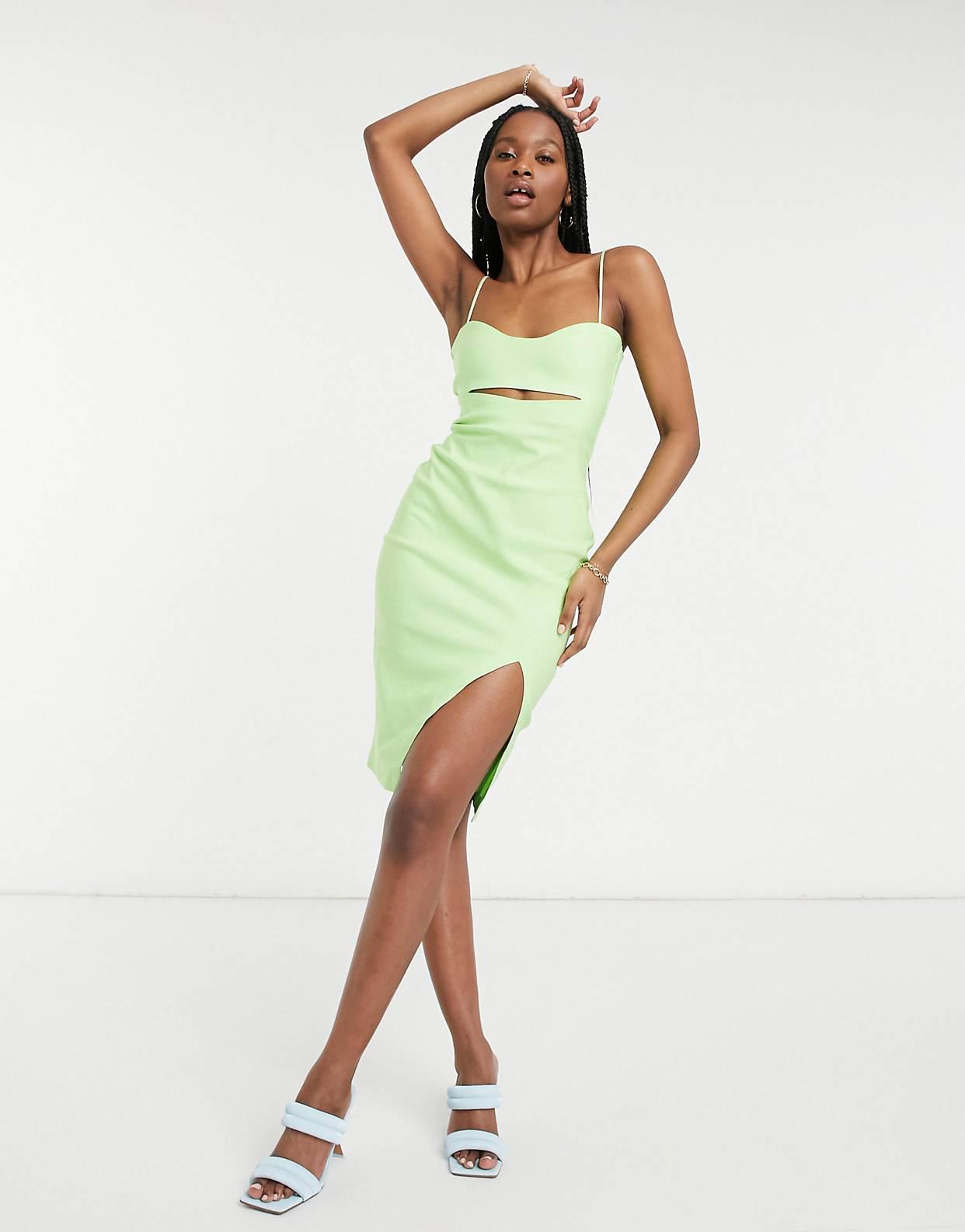 Vestido cut-out verde lima de Vesper