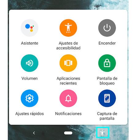 Menú Accesibilidad Android P
