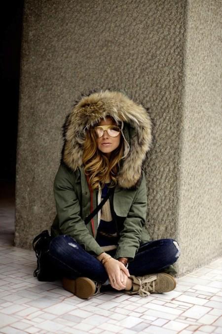 chiara ferragni abrigo pelo capucha
