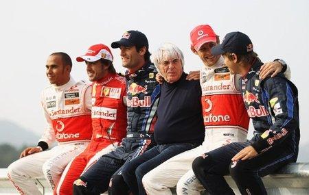 Bernie Ecclestone cumplirá 80 años el próximo jueves y Red Bull le adelantó su regalo en el GP de Corea