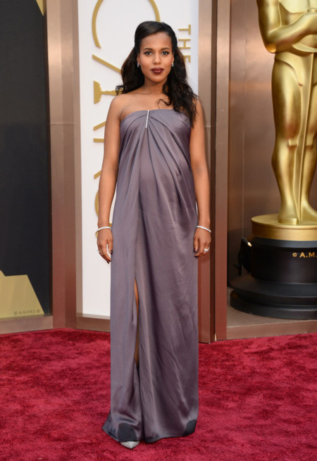Kerry Washington presume de embarazo vestida de Jason Wu en los Oscar 2014 con un look que no recordaremos
