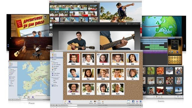 apple ilife iphoto imovie garageband