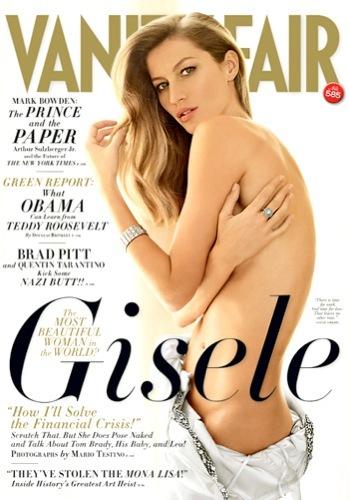Gisele Bundchen explosiva en el editorial de Vanity Fair