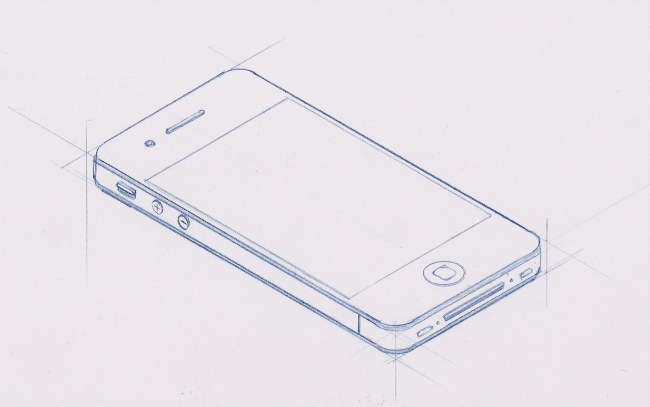 iPhone 4 Sketch