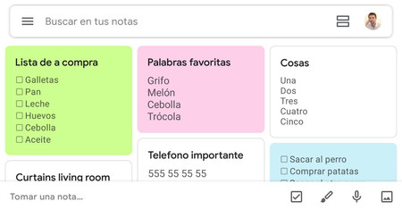 Google Keep se pone guapo con Google Material Theming