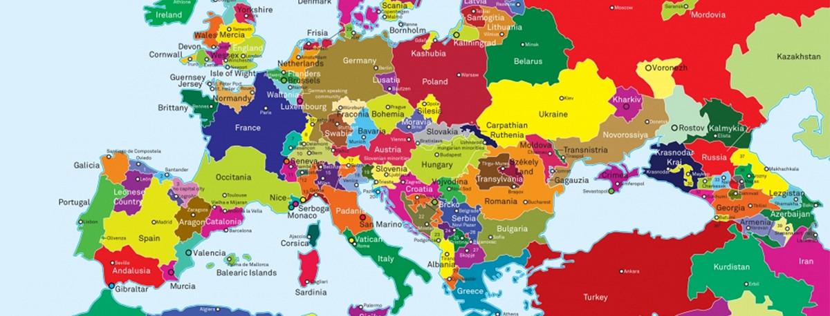 Mapa De Europa Con Paises.El Mapa De Europa Redibujado En Funcion De Las Reivindicaciones De Todos Los Nacionalismos