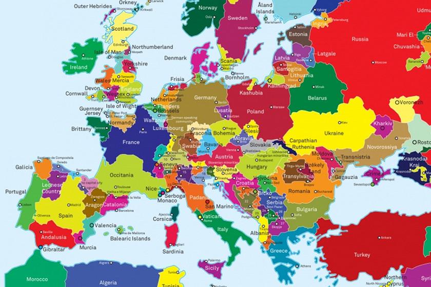 El Mapa De Europa Redibujado En Funcion De Las Reivindicaciones