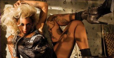 Pelucas y tatuajes, made in Beyoncé