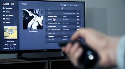 La plataforma de música Deezer llega a los Smart TVs de Samsung, Toshiba y LG