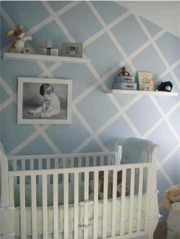 Tres colores para decorar el cuarto del bebé: rosa, azul y beige