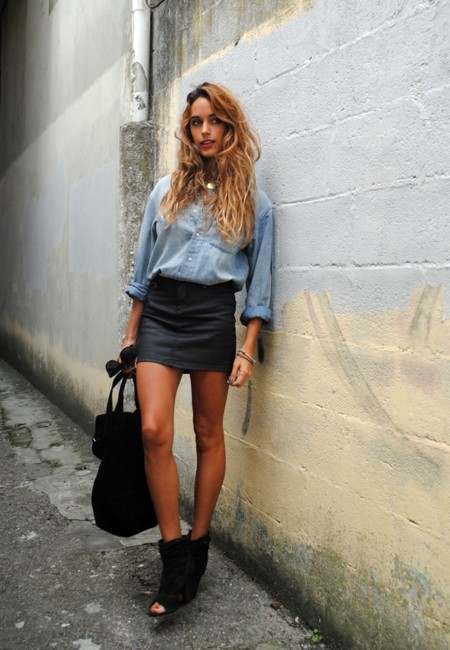 Con minifalda