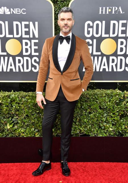 Aj Gibson Red Carpet Alfombra Roja Trendencias Hombre Globos De Oro Golden Globes 2020 02