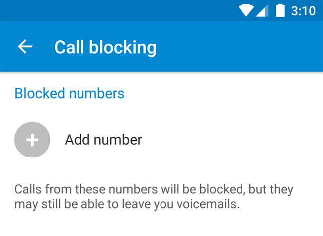 Call Blocking