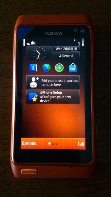 Foto de Nokia N8 naranja, batería (7/9)