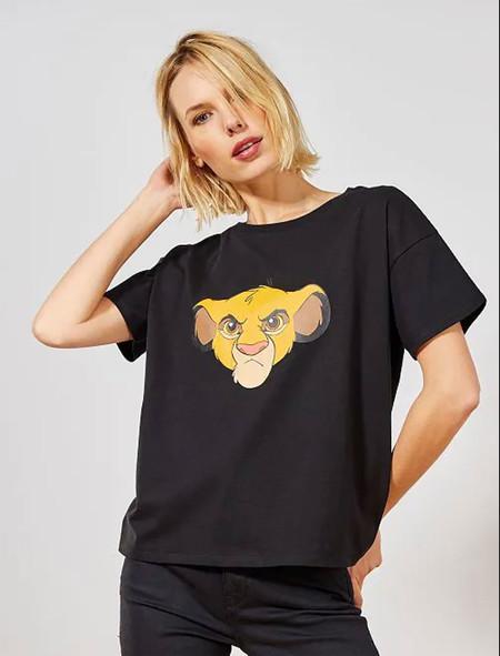 Kiabi Camiseta Simba Mujer Talla 34 A 48 Negro Pvp 12eur