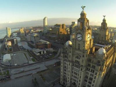 La maravillosa vista de Liverpool desde un drone